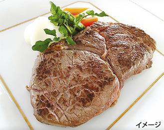ボリューム満点のUS産リブステーキ