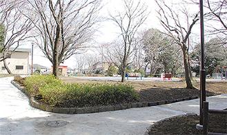 拡張された広場付近