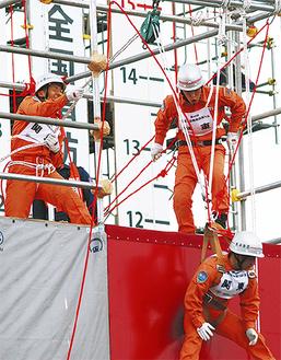 引揚救助の部に挑む中田特別救助隊