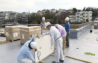 屋上に発電設備を設置