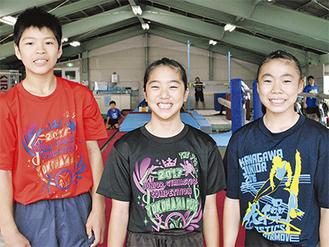 (左から)鈴木君、加藤さん、吉田さん