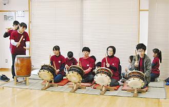 日頃の練習の成果を披露する今田囃子保存会