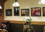 カフェで作品展