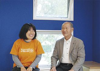 高橋委員長(右)と指導員の山口さん