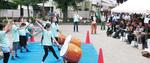 学童児童による和太鼓演奏も披露された