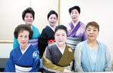 高橋会長(前列右)と特別出演の舞踊家元ら