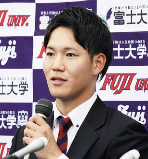 鈴木選手※富士大学より写真提供