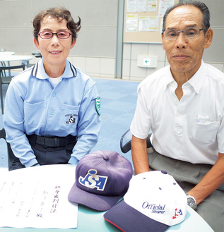 日本リーグでの場内アナウンス経験もあるという相澤さん(左)と牧内さん