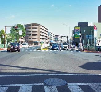 泉区総合庁舎前交差点