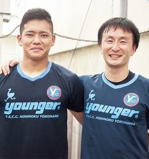 開幕に向け意気込む菅原選手(左)と中野選手