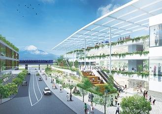 開発事業者による大規模集客施設のイメージ