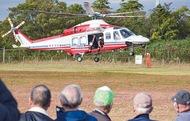 初のヘリ離着陸訓練