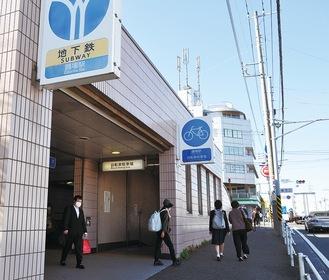 戸塚区との境に位置する踊場駅