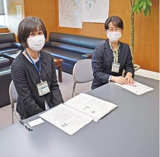 インタビューに答えてくれた(左から)大倉さん、坂田さん