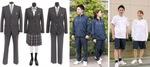 採用された標準服、ジャージ、体操服