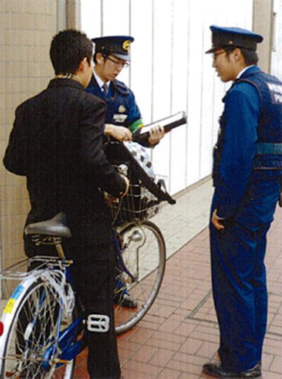 自転車マナーを啓発