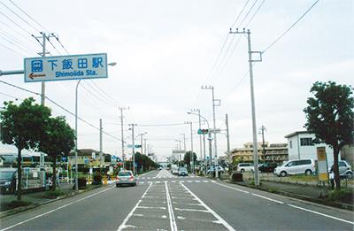 下飯田駅〜ゆめが丘駅前の環状4号線を歩く