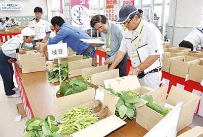 JAが野菜の品評会
