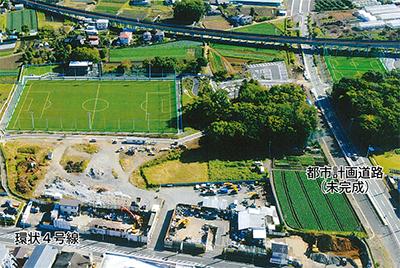 初の自前サッカー場