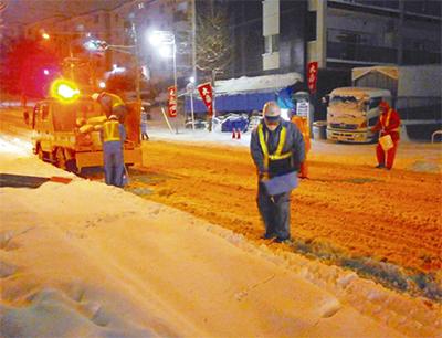 大雪に備え、対策強化