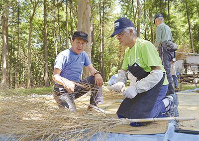 森の中で竹細工教室