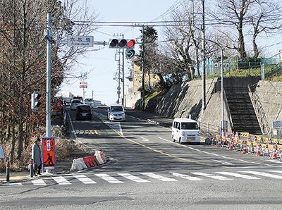 赤坂橋に右折信号