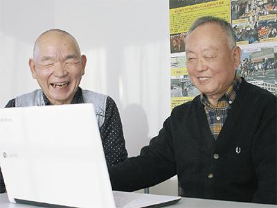 総務部の藤岡さん(左)と中島さん