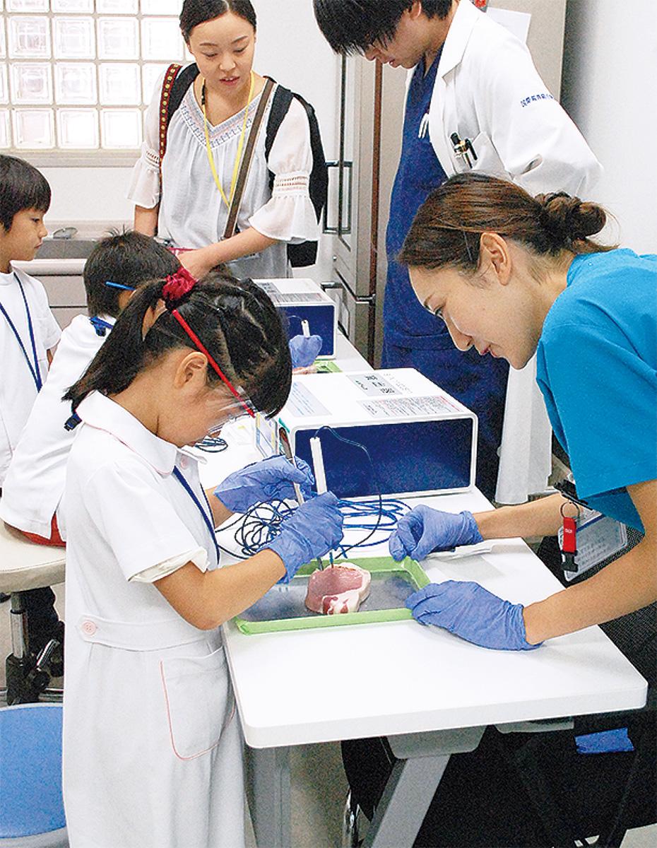 本物器具で医療体験