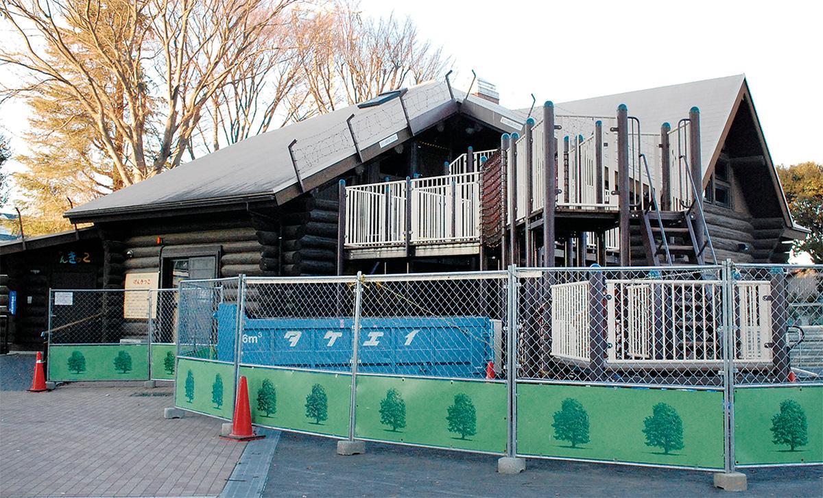 ログハウスが大規模改修
