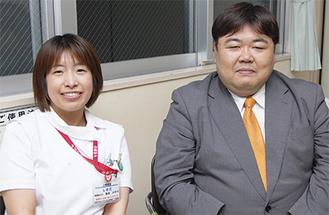 活動を振り返る島田さん(左)と齋藤さん