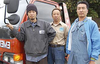 三浦さん(左)と社長の金子さん(右)(4月8日、同社で)