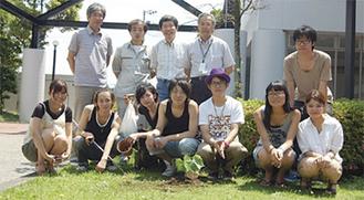 国際的な核廃絶キャンペーン「ican」が定めた「核廃絶の日」に植樹した