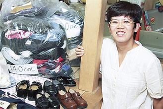 戸塚町の宇野さんの実家には、今後送る予定の物資が集まっている