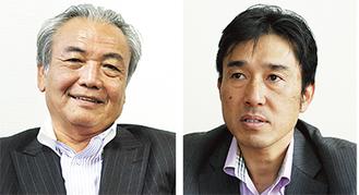 生駒順社長(右)と小泉和雄社長