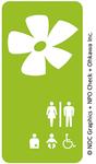 オープントイレプロジェクト賛同店を示すマーク