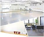 レッスン会場は全て主要駅から徒歩5分以内。専用ラウンジや、大型で足に優しいスタジオを完備。