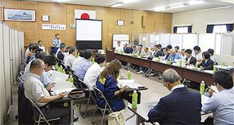 会議には関係者約60人が出席