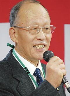 川上地区連合の田中会長