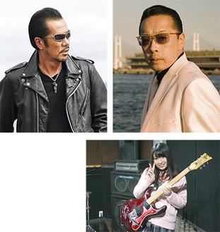 戸塚音楽祭に出演する翔さん(左上写真)と川戸昌和さん(右上写真)、2人が認めた若手音楽家、ちっちさん(右)
