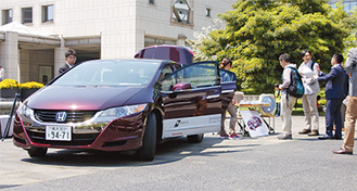 FCV車を紹介するイベントは市内各所で行われている