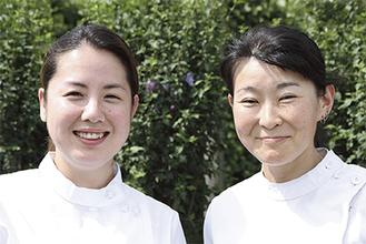 「私たちが伺います。気軽にご相談ください」と中川院長(左)