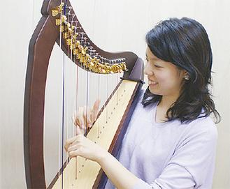ハープ奏者の小坂先生