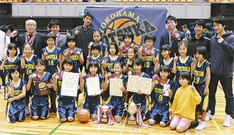 笑顔の戸塚ミニバスケットボールクラブのメンバー