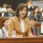 そがべ久美子の代表質問の様子=右写真=は本日15日19時〜、テレビ神奈川で放映予定