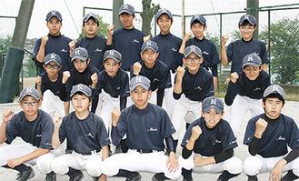 県大会出場を決めた名瀬中野球部メンバー