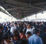 混雑する東戸塚駅