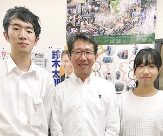(左から)植木さん、鈴木、飯田さん