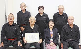 出場メンバーと田雑区長(下段右から2番目)