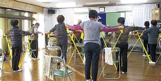 活動する介護予防に取り組むグループ