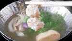 炙り鱧が牡丹の花の様に美しく開く